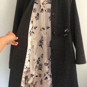 Via Spiga Jackets & Coats - Via Spiga - Wool/Cashmere Blend Car Coat - Gray